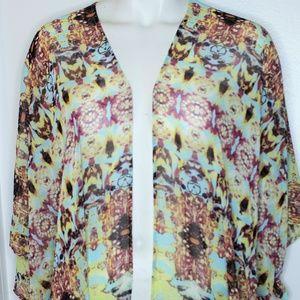 ❤️2/$25 Daniel Rainn Bohemian Kimono Top Xs S
